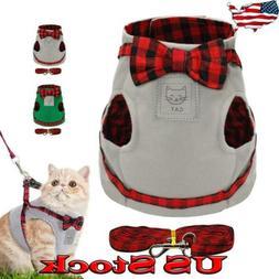 Pet Leash Cat Harness Set Soft Cute Small Puppy Kitten Vest