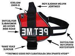 PET ME Nylon Dog Vest Harness. Purchase comes with 2 reflect