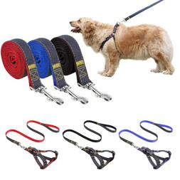 Pet Puppy Dog Nylon Harnesses and Leash Set Adjustable Harne