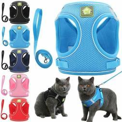 Pet Puppy Leash Control Harness Dog Cat Soft Mesh Walk Colla