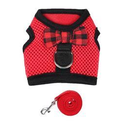 Pet Rabbit Harness & Leash Set Small Animal Walking Vest Har