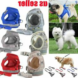 pet small dog puppy harness and leash