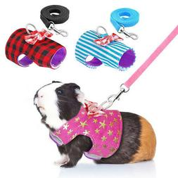 Pet Soft Harness With Leash Small Animal Vest Lead for Hamst