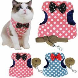 Pets Cat Escape Proof Walking Jacket Harness and Leash Pet P