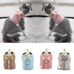 Pets Dogs Cats <font><b>Harness</b></font> Vest Cute Bowknot