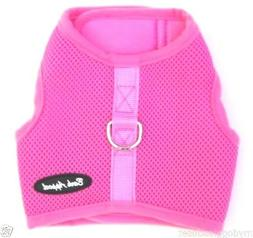 "Pink Dog Harness Mesh Wrap N Go No Choke 2 Strap - Up to 30"""