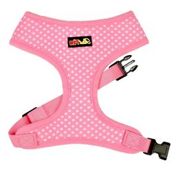 Pink Polka Dot Dog Harness - Pink Dog and Puppy Harness - XS