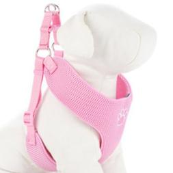 TOP PAW Pink Paw Print Comfort Dog Harness-SMALL~