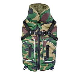Puppia Pioneer Pet Coat, Large, Camo
