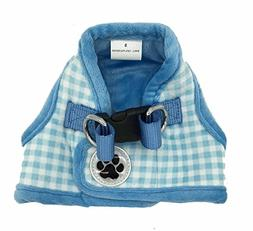 Lanyar Plaid Warm Fleece Pet Vest Harness Cat Harness for Sm
