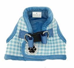 Lanyar Plaid Warm Fleece Pet Vest Harness Cat Harness for Sm