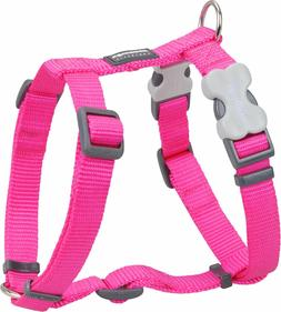 Red Dingo Plain HOT PINK Harness for Dog or Puppy   Sizes XS