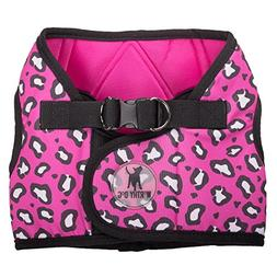 The Worthy Dog Printed Sidekick Cheetah Pink Harness, Pink,