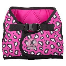 The Worthy Dog Printed Sidekick Cheetah Pink Harness, Pink,