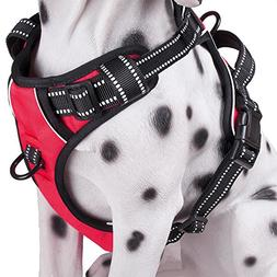 No Pull Dog Harness with Front Clip, Comfortable Reflective