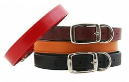 """Auburn Leathercrafters QUALITY Leather Dog """"TOWN COLLARS"""" 6"""