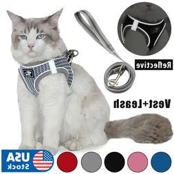 Cat Harness Reflective Walking Adjustable Vest Lightweight,
