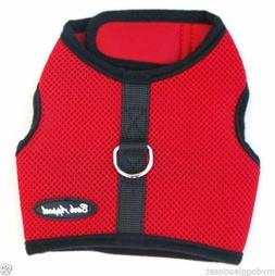 Red Dog Harness Puppy Wrap N Go Mesh 2 Straps Closure No Cho