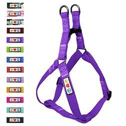 Red Dingo Reflective Dog Harness, Medium, Purple