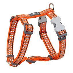 Red Dingo Reflective Dog Harness, Large, Orange