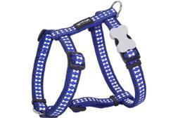 Red Dingo Reflective Dog Harness, Large, Dark Blue