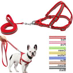 Reflective Dog Harness and Leash Set for Small Medium Large