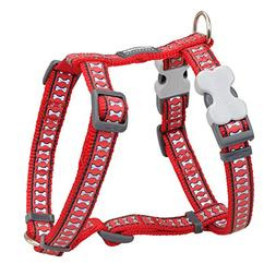 Red Dingo Reflective Dog Harness, Small, Red