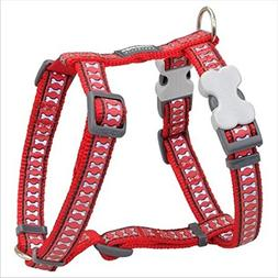 Red Dingo Reflective Red Medium Dog Harness chest: 18 - 26 i