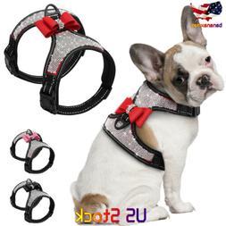 Reflective Dog Harness Nylon Pitbull Pug Harnesses Vest Blin