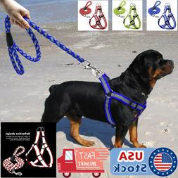 Reflective Dog Harness Step-in Nylon Dog harness with leash