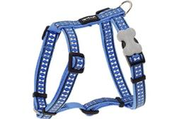 Red Dingo Reflective Dog Harness, Small, Mid-Blue