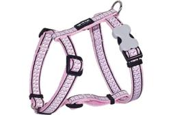 Red Dingo Reflective Dog Harness, Small, Pink