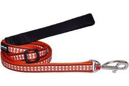 Red Dingo Reflective Dog Lead, Small, Orange