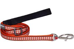 Red Dingo Reflective Dog Lead, Medium, Orange