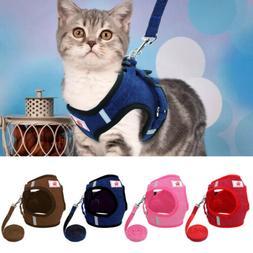 Reflective Escape Proof Cat Harness Leash Large Kitten Walki