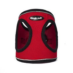 Bark Appeal Reflective Mesh Step in Harness, X-Large, Red
