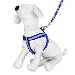 CUE CUE Pet Reflective Nylon Choke Free Harness with Matchin