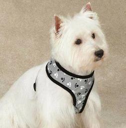 Casual Canine Reflective Pawprint Soft Dog Harness Reflect N
