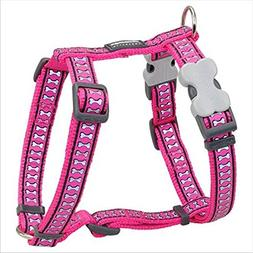 Red Dingo Reflective Hot Pink Medium Dog Harness