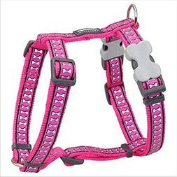 Red Dingo Reflective Hot Pink Medium Dog Harness