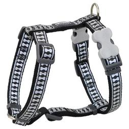 Red Dingo Reflective Safety Dog Harness, Medium, Black