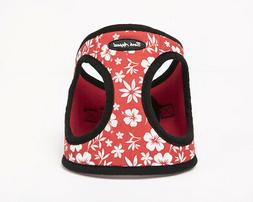 Bark Appeal RHEW-S Hibiscus Step In Harness, Red - Small