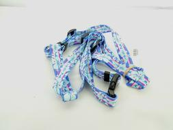 Yellow Dog Design Roman Harness Blue/Pink Tropical Flowers X