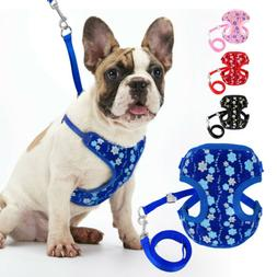 Sequins Small Dogs Walking Harness & Dog Leash Escape Proof