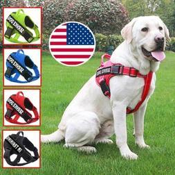 Service Dog Harness Adjustable Pet Vest Collar Walk Out for