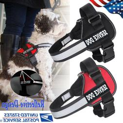 Service Dog Vest Harness Adjustable Patches Reflective Small