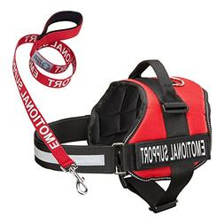 Service Dog Vest Harness with EMOTIONAL SUPPORT Patches and