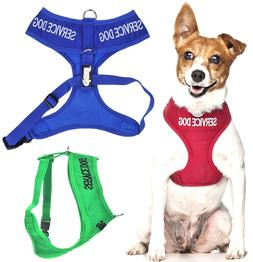 SERVICE DOG Vest Harness Non Pull Front Back Ring Padded Wat
