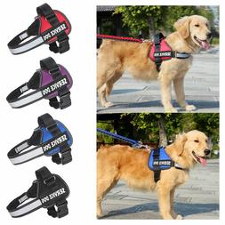 Service Vest Dog Harness Adjustable Patches Reflective Small