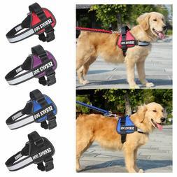 service vest dog harness adjustable patches reflective